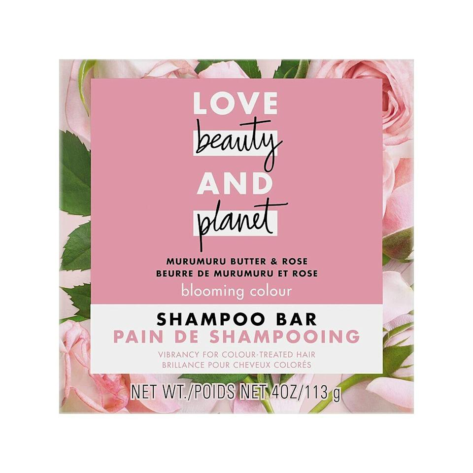 Made especially for color-treated hair, Love Beauty & Planet's Murumuru Shampoo Bar uses the fruit butter murumuru to help seal in moisture and protect against environmental damage and color fading. There's also coconut oil in the bar to help restore moisture on drier textures.