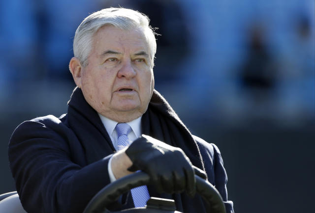 "<a class=""link rapid-noclick-resp"" href=""/nfl/teams/car"" data-ylk=""slk:Carolina Panthers"">Carolina Panthers</a> owner Jerry Richardson put the team up for sale after multiple allegations of sexual misconduct in the workplace and at least one instance of racial misconduct. (AP)"