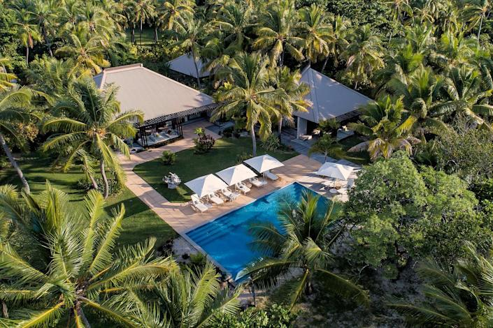 Aerial view of the residence at VOMO Island Fiji