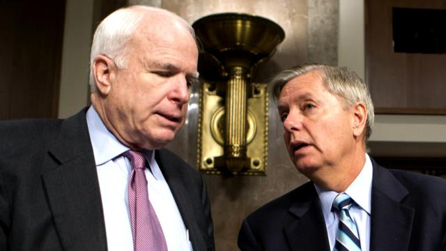 President Obama is sending Sen. John McCain, R-Ariz., and Sen. Lindsey Graham, R-S.C., to Egypt where they plan to meet with both the military and the Muslim Brotherhood. Charlie Rose reports.