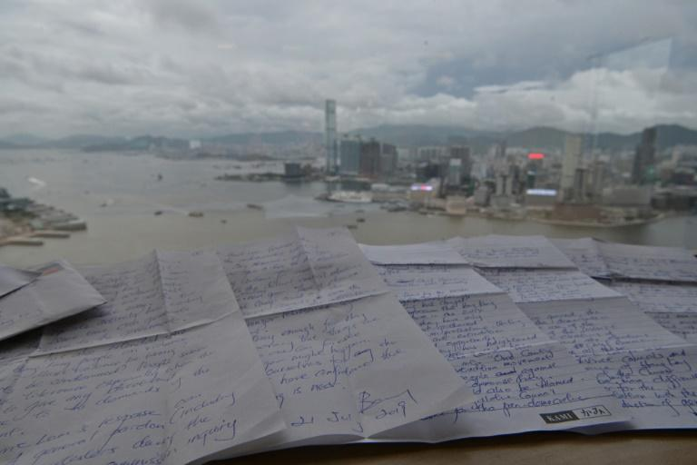 Benny Tai wrote his letters from Shek Pik prison (AFP Photo/Anthony WALLACE)