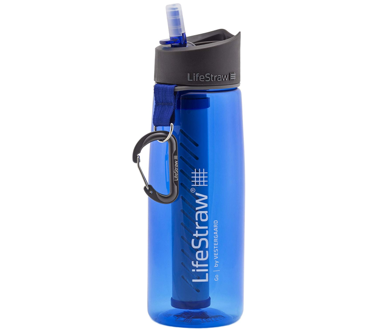 LifeStraw Go Bottle 2-Stage with Integrated 1,000 Liter LifeStraw Filter and Carbon Capsule