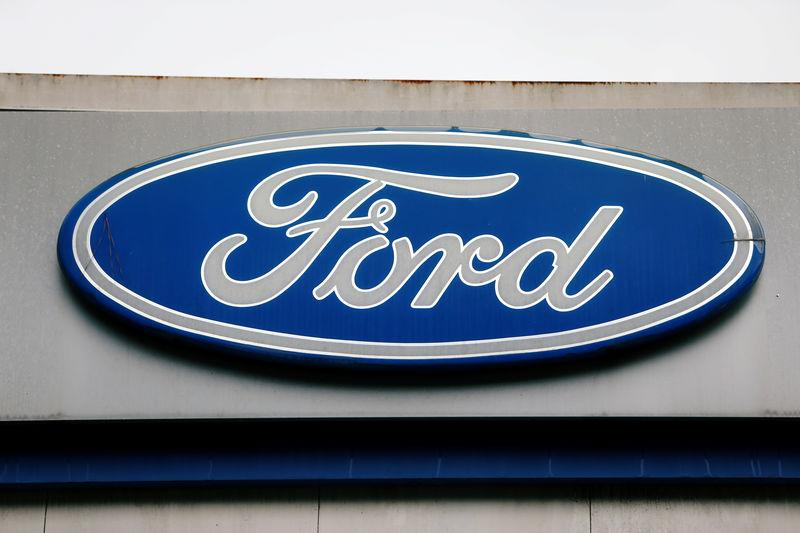 The Ford logo is seen at the Ford oldest Brazil plant after company announced its closure in Sao Bernardo do Campo