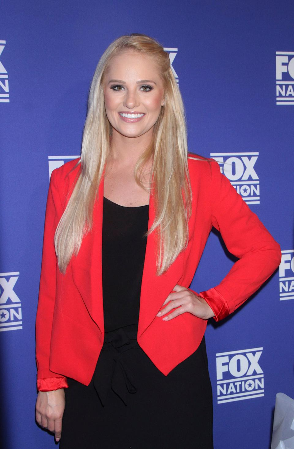 NEW YORK, NY - November 06: Tomi Lahren hosts Fox Nation Election Experience tent with a preview for a new subscription service at Fox Plaza in New York City on November 06, 2018. Credit: RW/MediaPunch /IPX