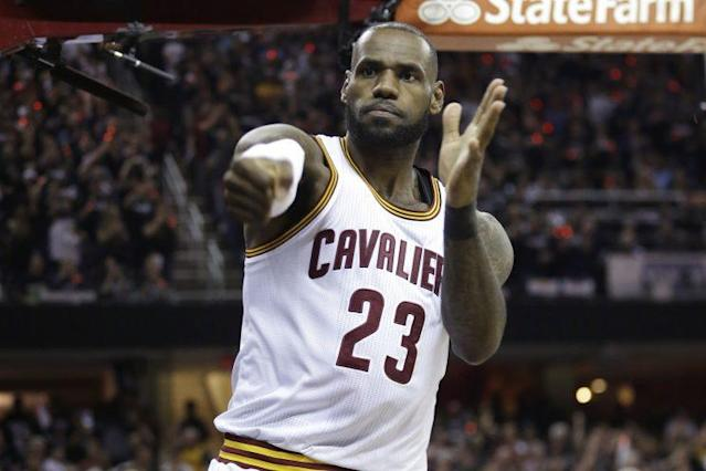 LeBron James had 31 points, 11 assists and 10 rebounds Friday night. (AP)