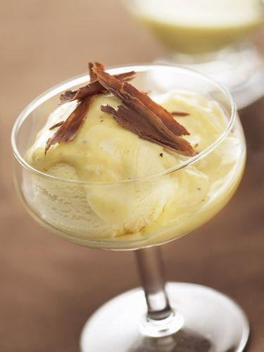 <p>Layer vanilla ice cream with crushed cookies (or even just cookie crumbs) in a martini glass.</p>
