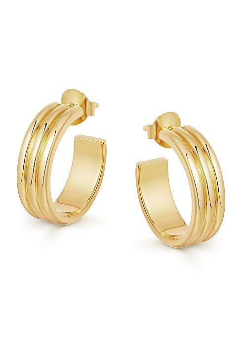 """<p><strong>Missoma</strong></p><p>harveynichols.com</p><p><strong>$110.00</strong></p><p><a href=""""https://click.linksynergy.com/deeplink?id=6Km1lFswsiY&mid=44787&murl=https%3A%2F%2Fwww.harveynichols.com%2Fint%2Fbrand%2Fmissoma%2F340759-ancien-18kt-gold-vermeil-hoop-earrings%2Fp3541677%2F"""" rel=""""nofollow noopener"""" target=""""_blank"""" data-ylk=""""slk:Shop Now"""" class=""""link rapid-noclick-resp"""">Shop Now</a></p><p>Everyday jewelry is truly the best for gifting—your Mom will have daily reminders of your love for her. She'll want to wear this chic update to the classic gold hoop with any look.</p>"""