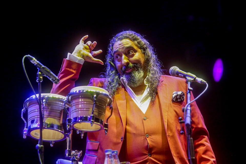 MADRID, SPAIN - JULY 23: The artist Diego el Cigala is seen performing at a concert in Madrid at Abremadrid de IFEMA, on July 23, 2020 in Madrid, Spain. (Photo by Ricardo Rubio/Europa Press via Getty Images)