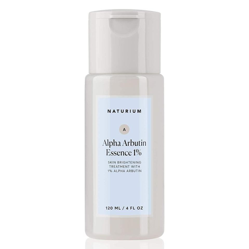 <p><span>Naturium Alpha Arbutin Essence</span> ($16) contains one percent of alpha arbutin and beta-glucan. It feels like a watery, hydrating essence that creates the perfect base for serums and moisturizers. After patting four to five drops of the essence all over my face and neck, my skin instantly felt hydrated and plump. If your skin leans dry or needs an extra boost of nourishment, this essence really helps, but it's not a necessity. It works really well with other brightening products and helps balance out the potent ingredients.</p>