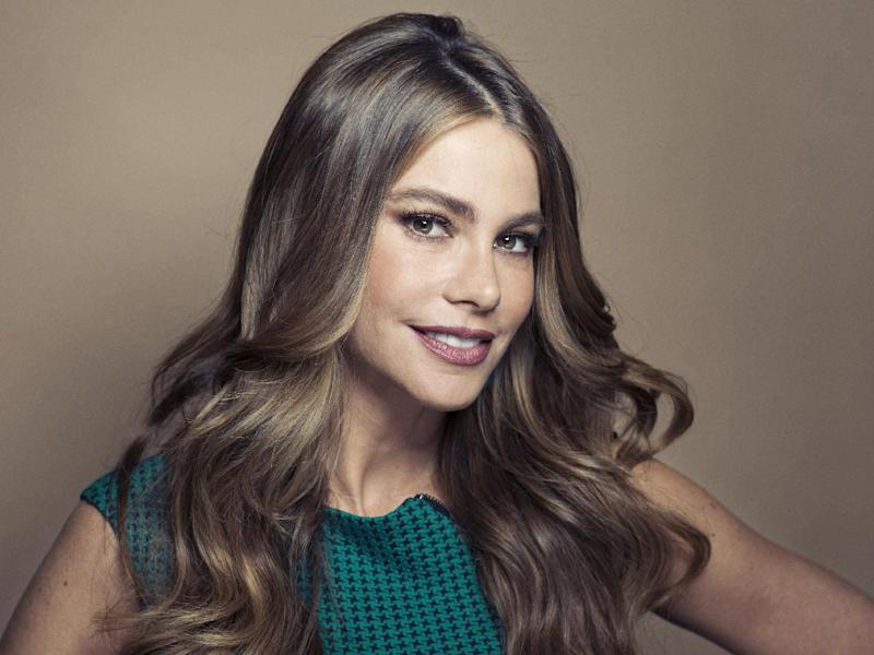 "CORRECTS SPELLING TO COLOMBIAN INSTEAD OF COLUMBIAN - Colombian actress Sofia Vergara poses for a portrait, on Wednesday, April 17, 2013 in New York. Vergara is currently on hiatus from ""Modern Family,"" but has several films coming out , including a starring role in the Robert Rodriguez thriller, ""Machete Kills."" (Photo by Victoria Will/Invision/AP)"