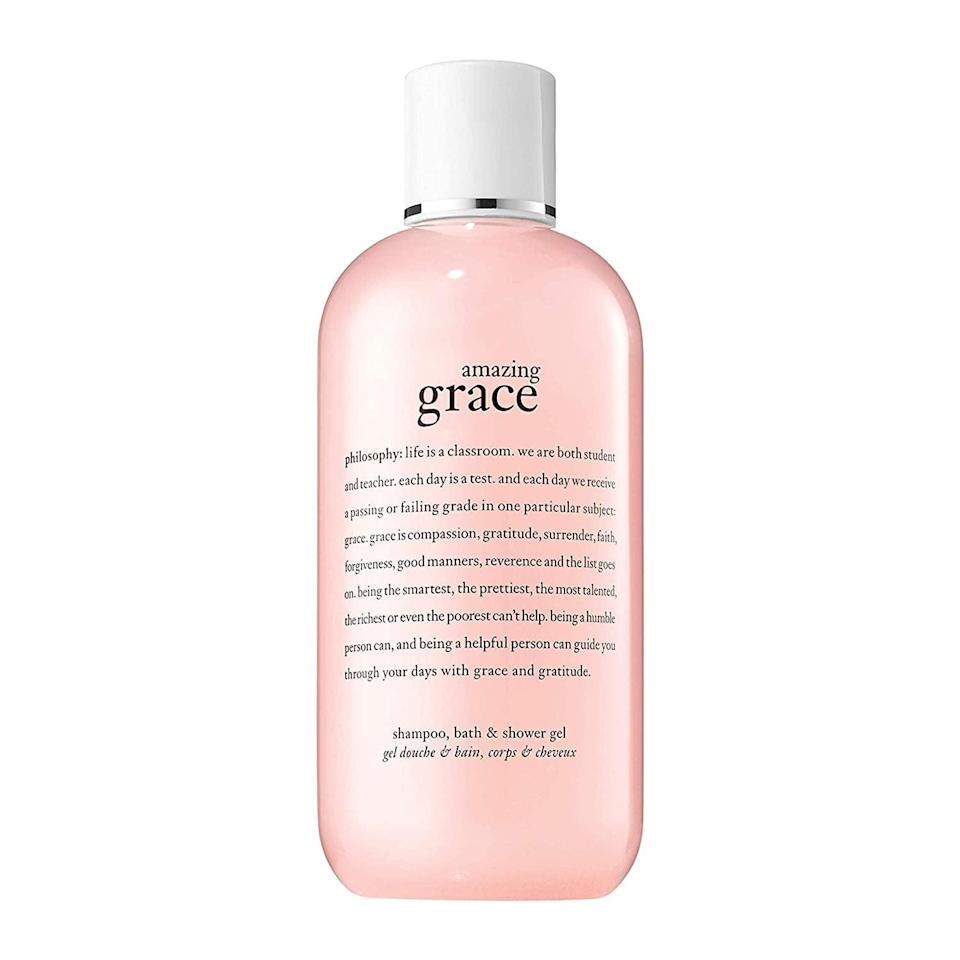 <p>Speaking of multitaskers, the lightly scented <span>Philosophy Amazing Grace Shampoo, Bath, &amp; Shower Gel</span> ($28) can be used in three ways with the ultimate goal of conditioning and hydrating the hair and skin.</p>