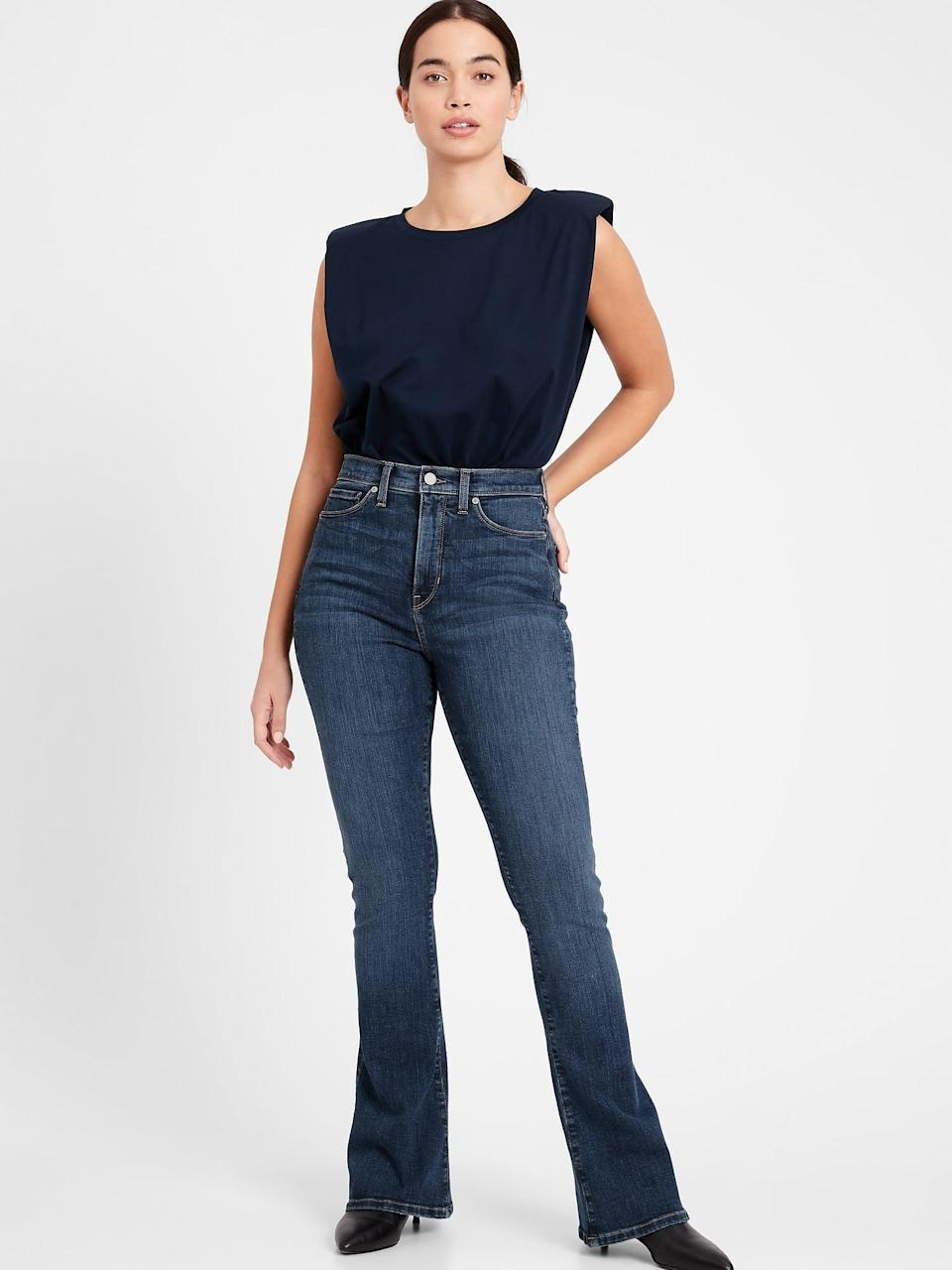<p>If you're into flares, then the <span>Banana Republic Curvy High-Rise Flare Jeans</span> ($110) are a great choice.</p>