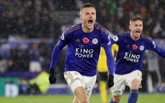 Jamie Vardy has scored in his last five games for Leicester City - Action Images via Reuters