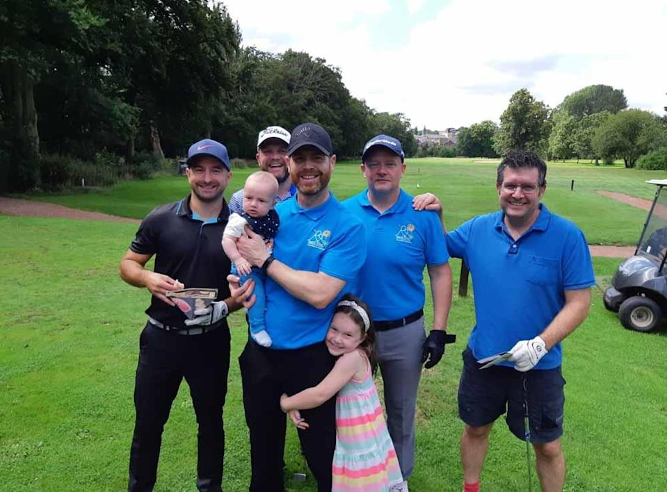 Danny on his golf fundraiser with Matilda and Archie in August 2021 (Collect/PA Real Life).