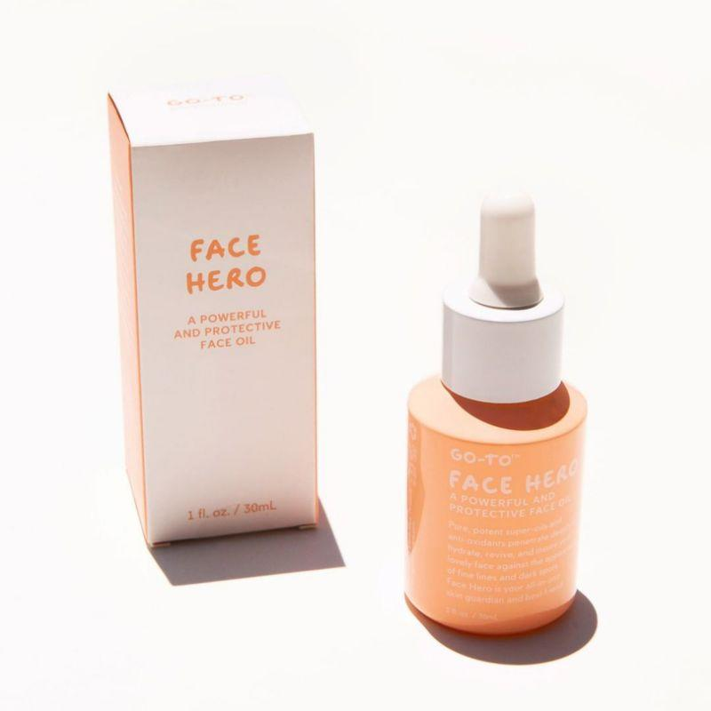 Face Hero is a face oil which contains a stream of natural ingredients. Photo: Instagram/Go To