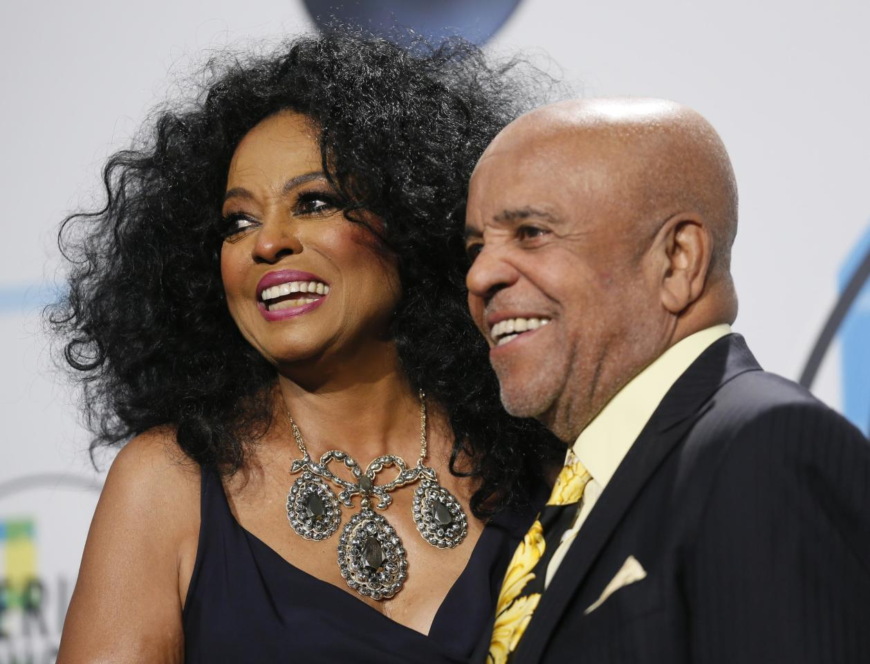 2017 American Music Awards - Photo Room - Los Angeles, California, U.S., 19/11/2017  Diana Ross and Berry Gordy. REUTERS/Danny Moloshok