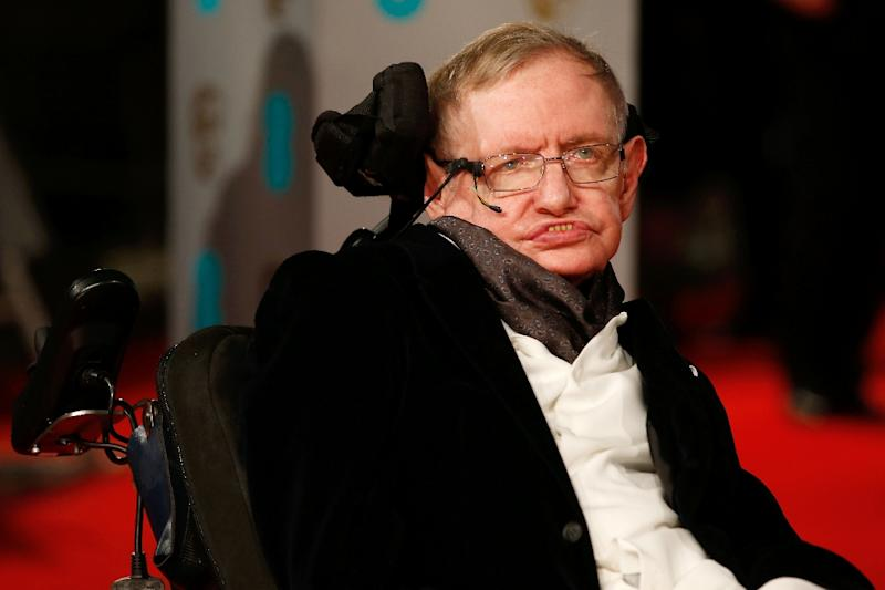 """British scientist Stephen Hawking's 1988 book """"A Brief History of Time"""" became an unlikely worldwide bestseller and cemented his superstar status, dedicated his life to unlocking the secrets of the Universe (AFP Photo/Justin TALLIS)"""