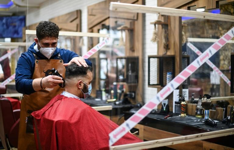 Some Germans were delighted to finally return to salons