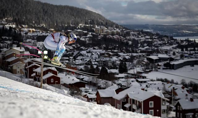 """<span class=""""element-image__caption"""">Lindsey Vonn raced flat out whenever she had the chance.</span> <span class=""""element-image__credit"""">Photograph: Fabrice Coffrini/AFP/Getty Images</span>"""
