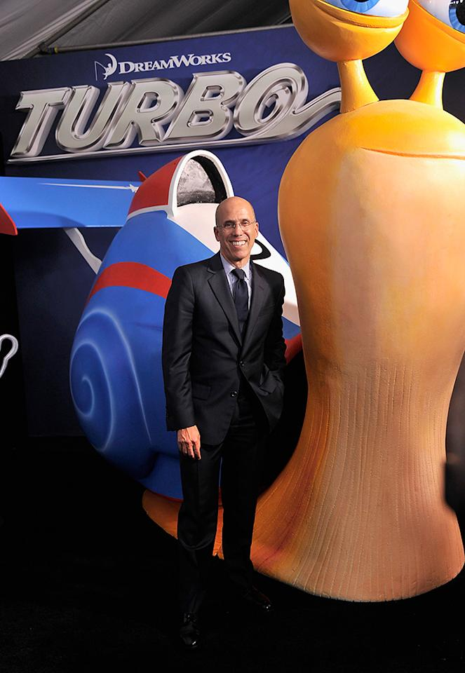 "NEW YORK, NY - JULY 09:  DreamWorks Animation CEO Jeffrey Katzenberg attends the ""Turbo"" New York Premiere at AMC Loews Lincoln Square on July 9, 2013 in New York City.  (Photo by Stephen Lovekin/Getty Images)"