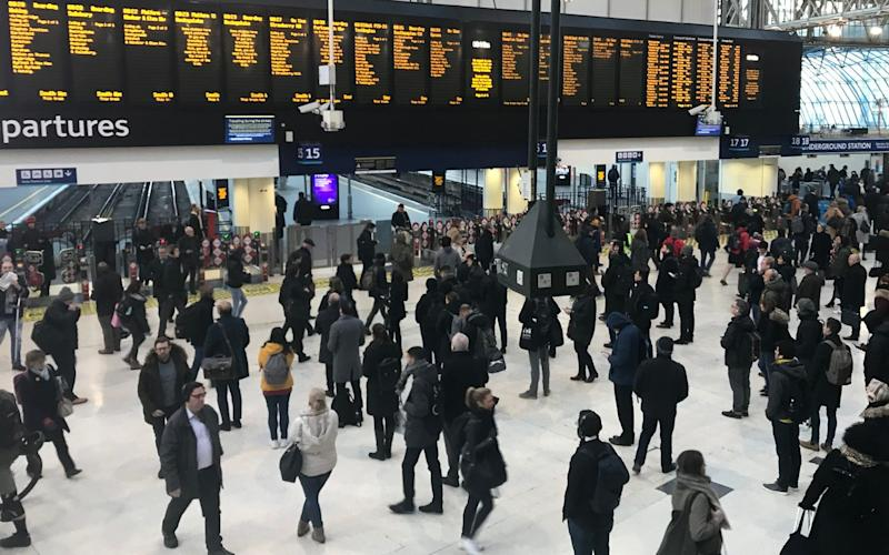 Waterloo station, which is expected to be worst-hit by the strikes - PA