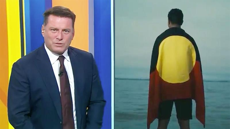 Pictured on the left, Karl Stefanovic was critical of Latrell Mitchell's role in the NRL's new ad.