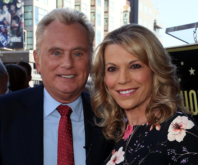 HOLLYWOOD, CALIFORNIA - NOVEMBER 01: Pat Sajak and Vanna White attend Harry Friedman being honored with a Star on the Hollywood Walk of Fame on November 01, 2019 in Hollywood, California. (Photo by David Livingston/Getty Images)