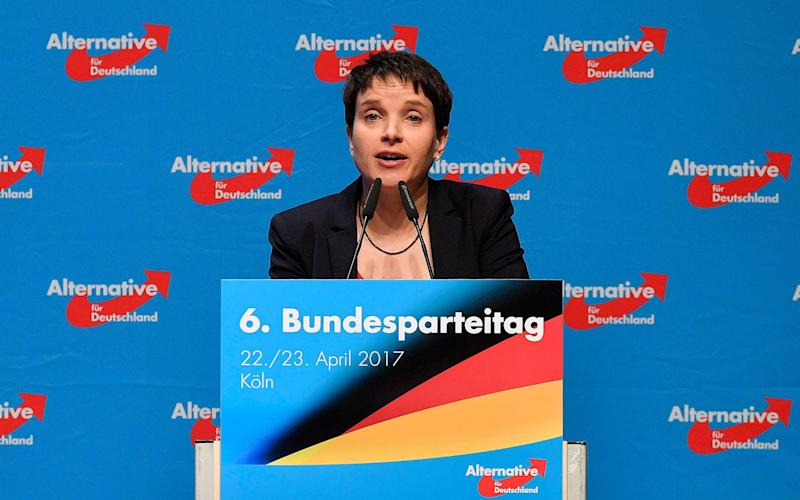 Frauke Petry holds a speech at the party convention of Germany's nationalist party AFD (Alternative for Germany) in Cologne - Credit: AP