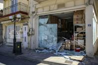 The farming town of Arkalochori was particularly badly hit (AFP/Costas Metaxakis)