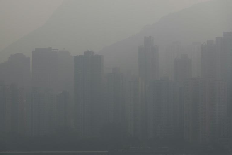 "The air quality in Hong Kong Monday was categorised as ""unhealthy"" on the World Air Quality Index"