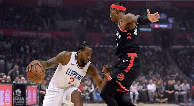 Rondae Hollis-Jefferson gave Kawhi Leonard all he could handle. (Photo by Harry How/Getty Images)