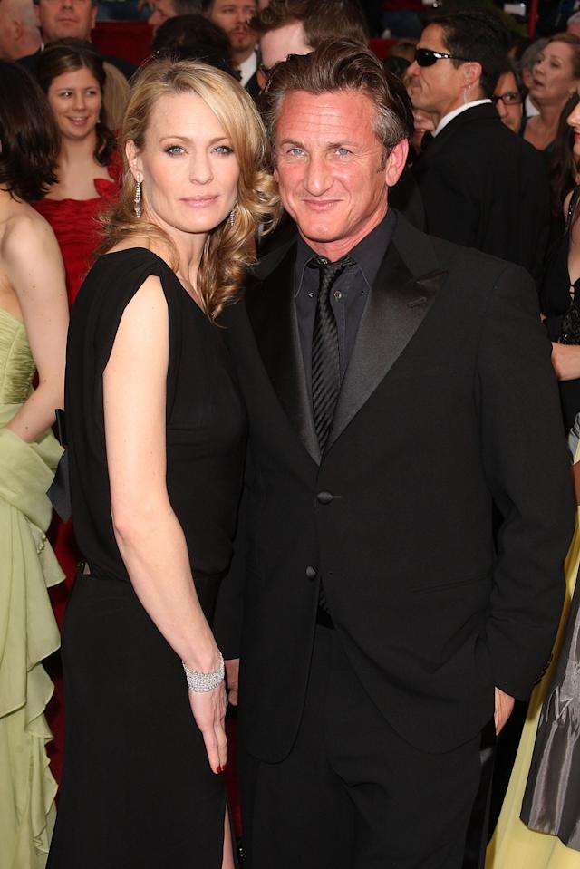 Robin Wright and Sean Penn at the 81st Annual Academy Awards, in February 2009. (Photo: Getty Images)