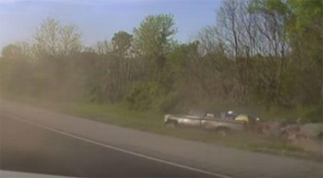 A deputy opened fire and the suspect's vehicle drove into an embankment on the side of the highway. More shots were fired into the car after it crashed. Source: News Channel 5