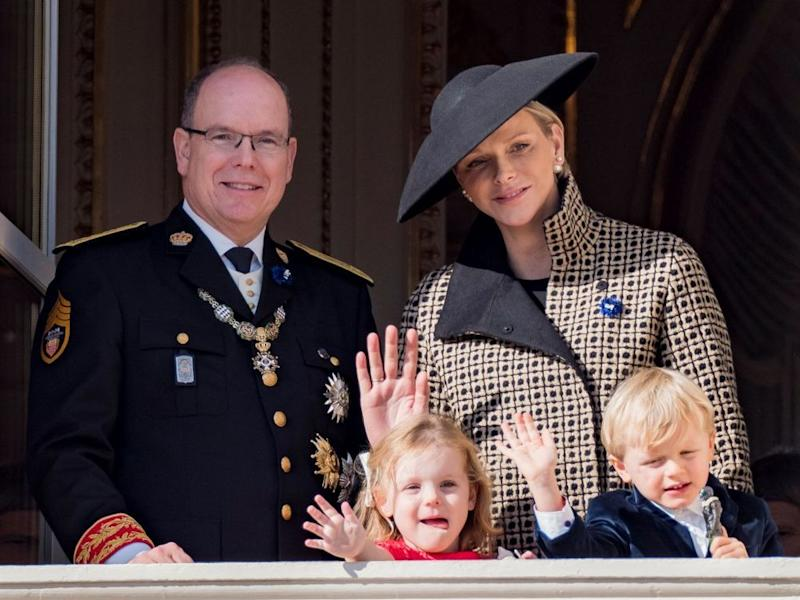Prince Albert, Princess Charlene and their children Prince Jacques and Princess Gabriella in November 2018. | Arnold Jerocki/Getty