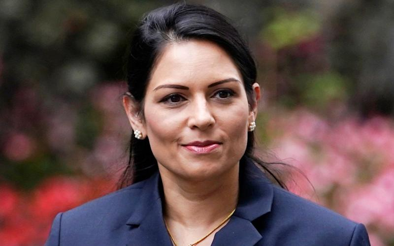 Mandatory Credit: Photo by WILL OLIVER/EPA-EFE/Shutterstock (10769520h) Home Secretary Priti Patel arrives to attend a Cabinet Meeting in the Foreign and Commonwealth Office, Central London, Britain, 08 September 2020. Cabinet Meeting in London, United Kingdom - 08 Sep 2020 - WILL OLIVER/EPA-EFE/Shutterstock