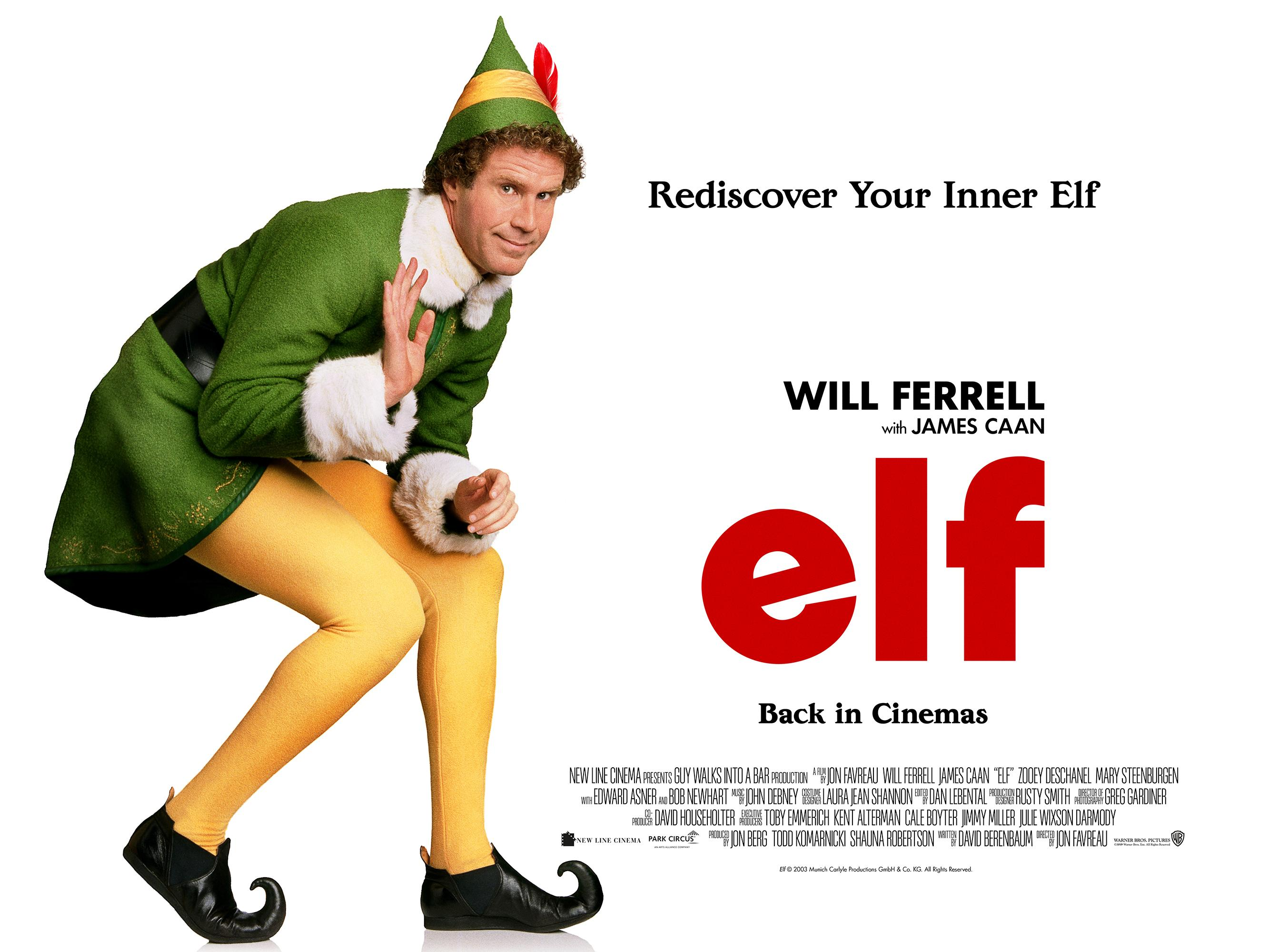 Will Ferrell's Buddy the Elf is back in cinemas this Christmas. (Park Circus/Warner Bros.)