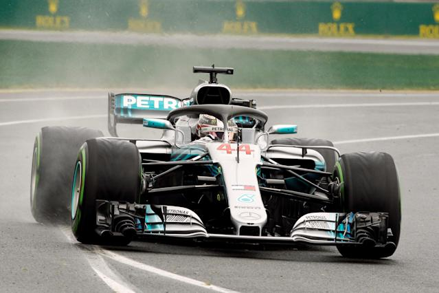Formula One F1 - Australian Grand Prix - Melbourne Grand Prix Circuit, Melbourne, Australia - March 24, 2018 Mercedes' Lewis Hamilton in action during practice REUTERS/Brandon Malone