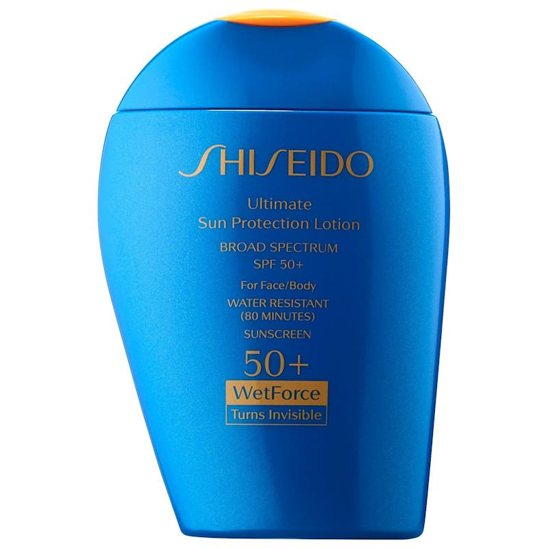 Shiseido Ultimate Sun Protection Lotion WetForce Broad Spectrum Sunscreen SPF 50+