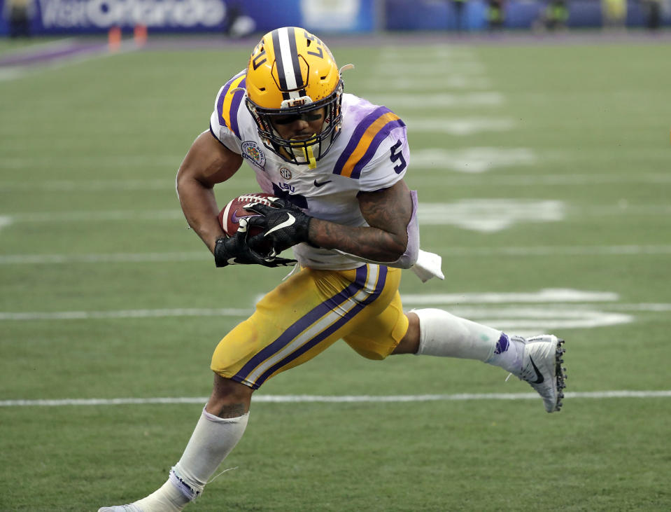 LSU running back Derrius Guice