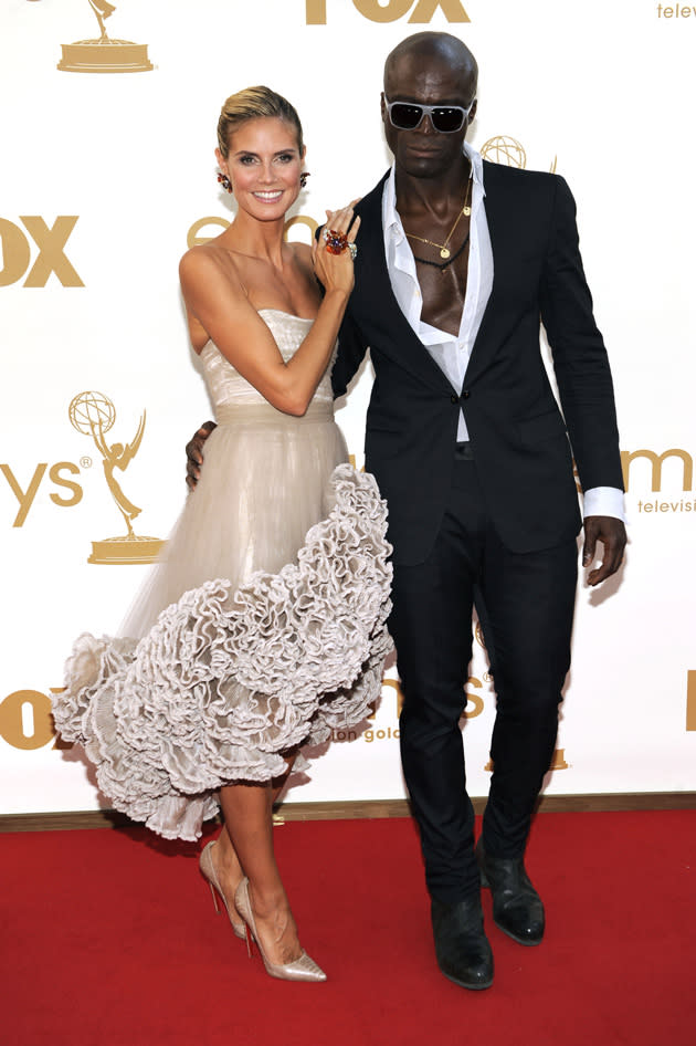 Celebrity splits 2012: Heidi Klum and Seal seemed like one of the most stable couples in showbiz so we were seriously shocked when they announced they were splitting. The breakup turned bitter after Heidi Klum went public with her relationship with her body guard and Seal accused her of 'fornicating with the help'. Awkward.