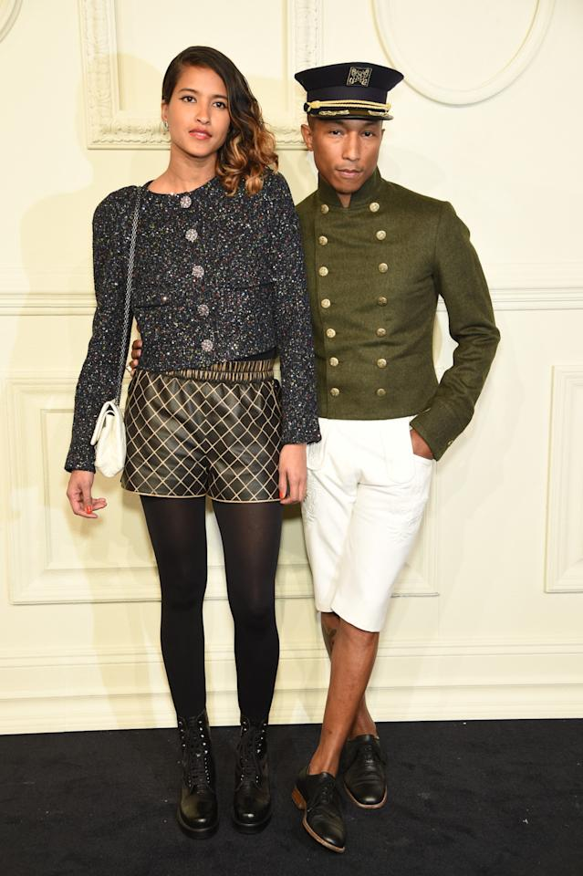 <p>Williams wore a custom look from the Paris-Salzburg collection to walk the red carpet with his equally stylish wife, Helen Lasichanh</p>