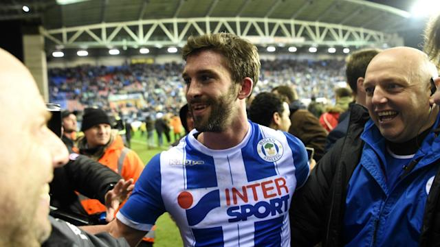 The striker scored the decisive goal as Wigan Athletic stunned the Premier League leaders, a result the striker could scarcely believe