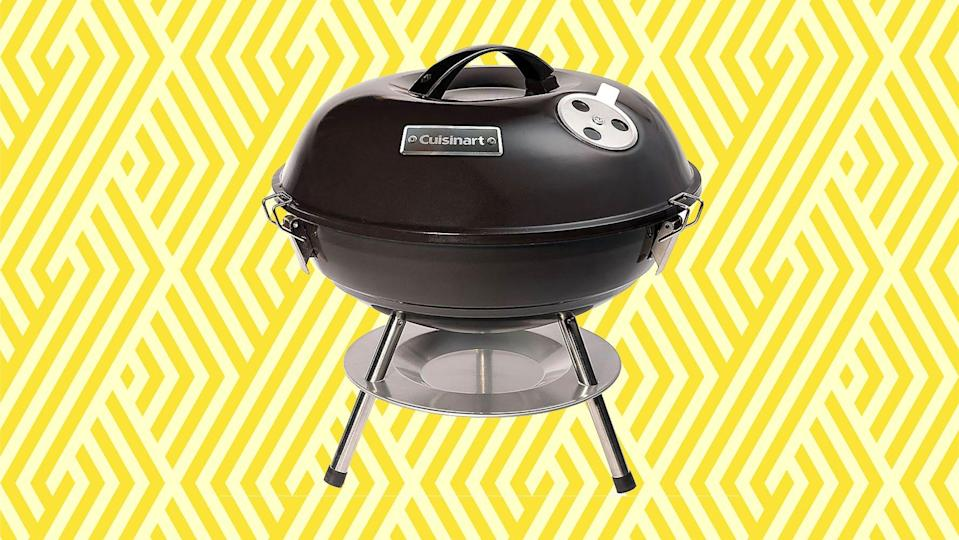 This portable grill is easy to take on-the-go.