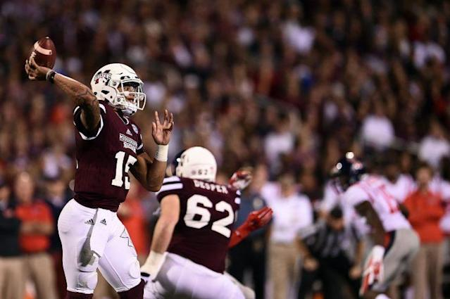 One of Dak Prescott's challenges during the draft process was proving he could go from a spread offense to a pro-style scheme. (Getty Images)