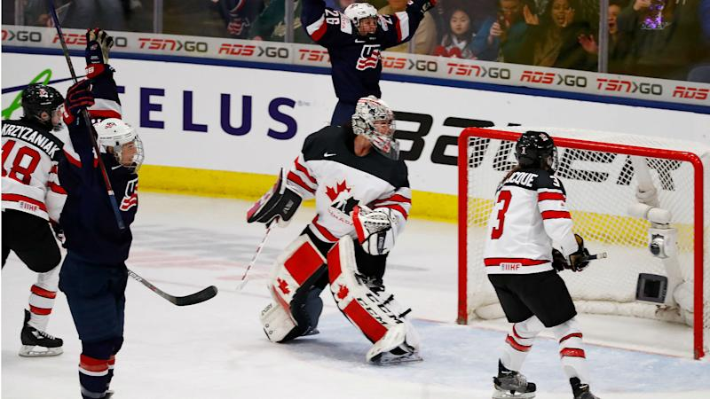 U.S. women's hockey team beats Canada in OT to win gold at world championship