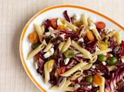 """<p>Cold pasta salads are not only creamy and delicious—and a great way to get <a href=""""https://www.countryliving.com/uk/homes-interiors/gardens/a20120884/most-cost-effective-vegetables-grow-home-garden/"""" rel=""""nofollow noopener"""" target=""""_blank"""" data-ylk=""""slk:garden vegetables"""" class=""""link rapid-noclick-resp"""">garden vegetables</a> into a dish, but they're also an ideal <a href=""""https://www.countryliving.com/food-drinks/g763/grilling-barbecue-side-dishes-0509/"""" rel=""""nofollow noopener"""" target=""""_blank"""" data-ylk=""""slk:barbecue side dish"""" class=""""link rapid-noclick-resp"""">barbecue side dish</a>. And they're fast! If you whip up a big batch of pasta ahead of time, you can assemble a pasta salad in minutes. They are also a great <a href=""""https://www.countryliving.com/food-drinks/g783/picnic-recipes-0609/"""" rel=""""nofollow noopener"""" target=""""_blank"""" data-ylk=""""slk:picnic food"""" class=""""link rapid-noclick-resp"""">picnic food</a>. Whether you're cooking for a crowd, or just packing something to take to the park, any one of these pasta salads will make a great addition. </p>"""