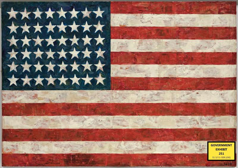 NY trial over Jasper Johns art ends in guilty plea