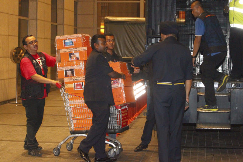 Malaysians transfixed by luxury goods seized from ex-PM flat