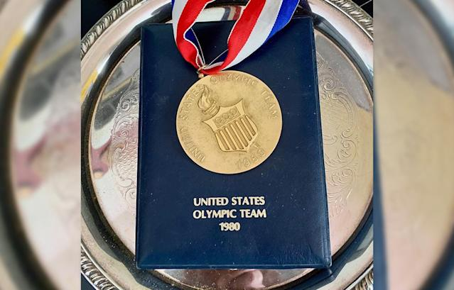 Members of the United State 1980 Olympic team were given medals acknowledging their place on the team. (Courtesy of John Powell)