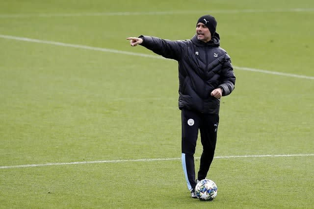 Pep Guardiola will look to close a six-point gap to Liverpool at Anfield on Sunday